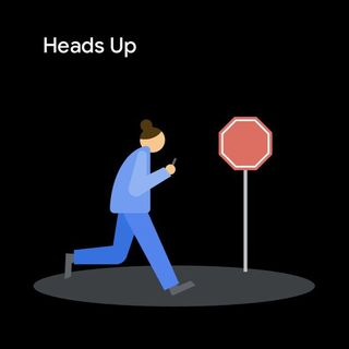 New 'Heads Up' feature nags distracted Android users to look up while walking