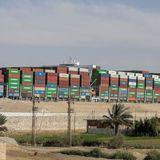 Dislodged Suez Canal cargo ship held amid $916 million claim