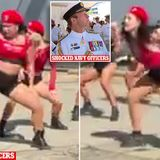 'Bizarre' video shows twerking dancers at launch of new Navy ship