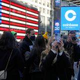 Coinbase soars in market debut, valued near $86 billion