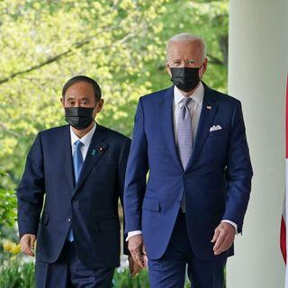 """Yoshihide Suga affirms """"tight bond"""" between U.S., Japan in visit with Joe Biden"""
