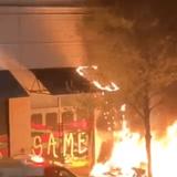 Antifa Rioters Burn Portland Apple Store, Fire Guns from Cars