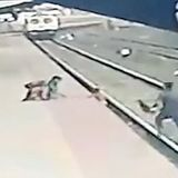 Child is pulled out of the path of a train by hero rail worker