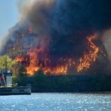 Three-alarm fire rips through Domino Sugar storage shed, enters Baltimore refinery