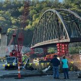 History made on the Ohio River as Wellsburg Bridge is moved into place