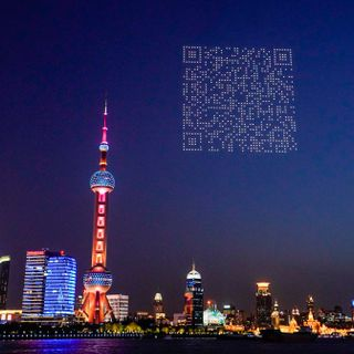 Drones Light Up Shanghai's Sky with a QR Code (That You Can Scan)