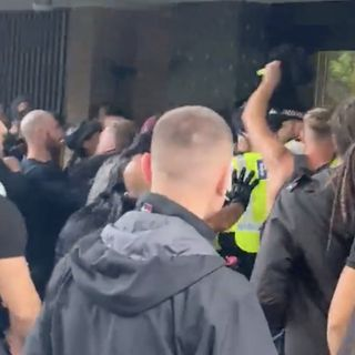 Video: Anti-vaxxers storm what they think is the BBC but show up at the wrong place