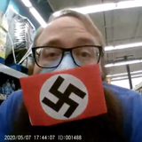 Shopper in Swastika Mask Posts Video of Quarrel with Santee Deputies - Times of San Diego