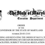 Document: Gov. Hogan's amended coronavirus restrictions