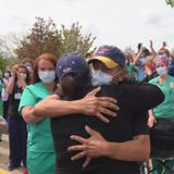 Crowd cheers St. Louis Police officer after coronavirus recovery