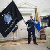 Trump unveils Space Force flag and 'super-duper missile' plan | The Japan Times