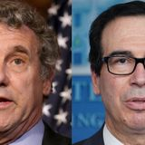 Sen. Sherrod Brown inquires of Treasury's Steven Mnuchin: 'How many workers should give their lives to increase the GDP or the Dow Jones by a thousand points?'