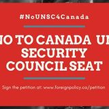 No—Argue Noam Chomsky, Roger Waters, Monia Mazigh, and 100+ Others—Canada Does Not Deserve UN Security Council Seat