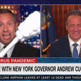 Cuomo Thumbs Nose at Accountability for Gov. Brother, Plays With Giant Swabs