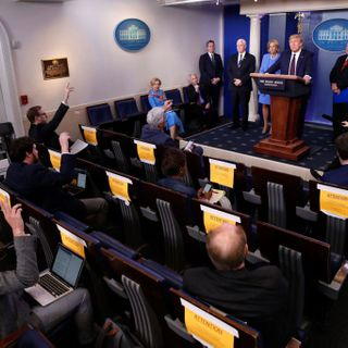 One America News Network Removed From Donald Trump Briefings Over Violation Of Coronavirus Social Distancing Guidelines -- Update