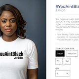 Trump campaign selling 'you ain't black' shirts after Biden comment