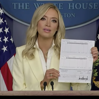 Trump's routing number revealed as press secretary announces he's donating quarterly salary to HHS: report
