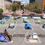 San Francisco socially distances its homeless encampments amid coronavirus pandemic