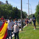 Hundreds of cars clog Madrid's center in mass protest against government's handling of coronavirus