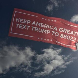 "Trump campaign flying ""Keep America Great"" aerial banners Memorial Day weekend"