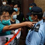 Hong Kong protest over proposed national security law met with tear gas