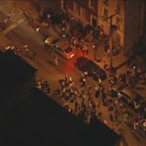 Hundreds gather in streets of Philadelphia's Brewerytown section; many people seen without a mask