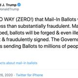 Twitter adds fact check to unsubstantiated Trump tweets about mail-in voter fraud
