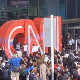 Protesters Are Throwing Glass Bottles at Entrance to CNN Center in Atlanta