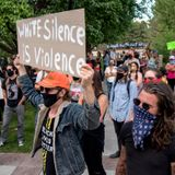 Peaceful protest in Santa Fe draws hundreds carrying signs, singing