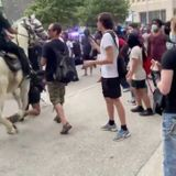 Police investigating after video shows mounted patrol officer trample protester in downtown Houston