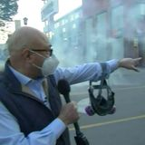 'There was no warning whatsoever': Police shoot tear gas toward protesters, MSNBC crew
