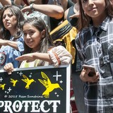 Apache Protest Bill Which Gives Native Land To Mining Company