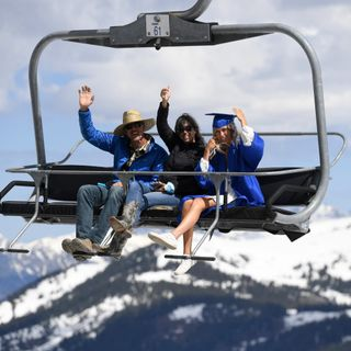 PHOTOS: Seniors graduate on Copper Mountain chairlift, receive diplomas from an extended ski