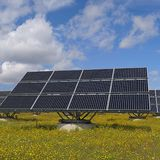 Two-sided solar panels that track the sun produce a third more energy