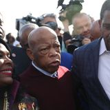 Civil rights icon John Lewis visits new Black Lives Matter Plaza in D.C.