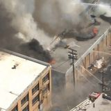 Firefighters battle blaze at downtown L.A. produce market as propane tanks explode outside: LAFD