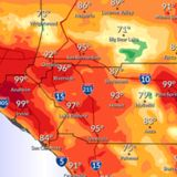 Temperatures forecast to hit 100 in parts of SoCal as heat wave continues Tuesday