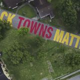 'Black Towns Matter' mural painted on street in Houston's Independence Heights