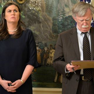 "Sarah Sanders says John Bolton was ""drunk on power"""