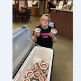 She was furloughed. So she became 'Lasagna Lady,' and made 1,200 pans of free lasagna for those in need.