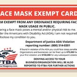 Have you seen this face mask exemption card? It's fake, Department of Justice says
