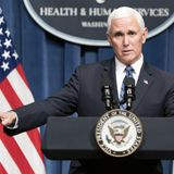 During COVID Briefing, Mike Pence Touts Constitutional Right to Hold Trump Rallies