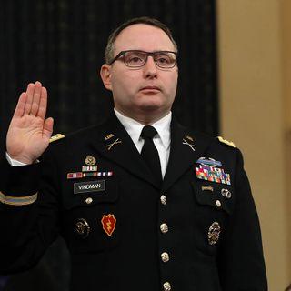 Army won't investigate Vindman over impeachment testimony, top leader says