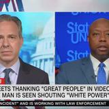 "GOP Sen. Tim Scott: Trump's retweet of supporter yelling ""white power"" is ""indefensible"""
