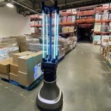 This robot quickly disinfects spaces using UV-C light