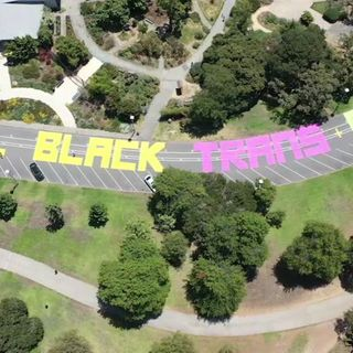 DRONEVIEW: New mural encouraging inclusivity painted on streets of Oakland