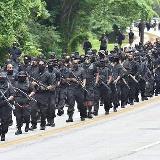 """""""We're In Your House. Let's Go."""" - Black Armed Protesters ChallengeWhite Militia At Confederate Monument"""