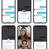 This is Tinder's new video chat feature, Face to Face