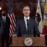 """Los Angeles City Coronavirus Update: Mayor Eric Garcetti Warns Of Possible New Stay-At-Home Order; """"All Options"""" On Table"""